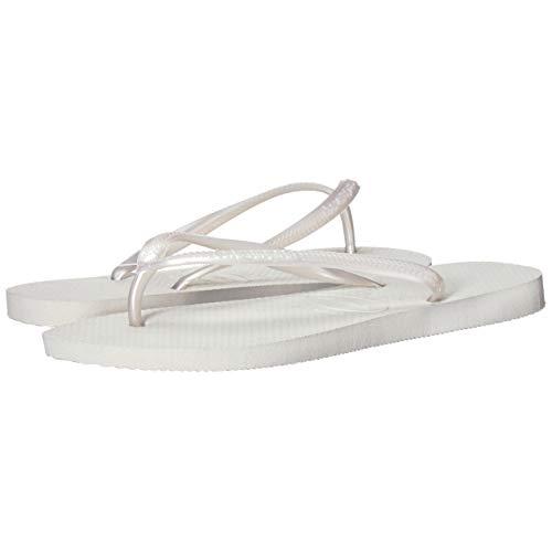Havaianas White Rubber Slim Flip-Flops