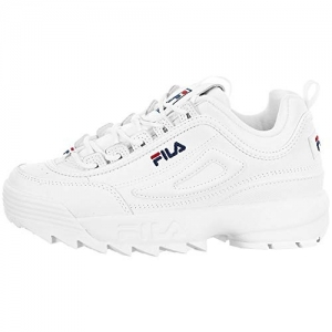 Fila White Rubber Lace Up High Ankle Sneakers