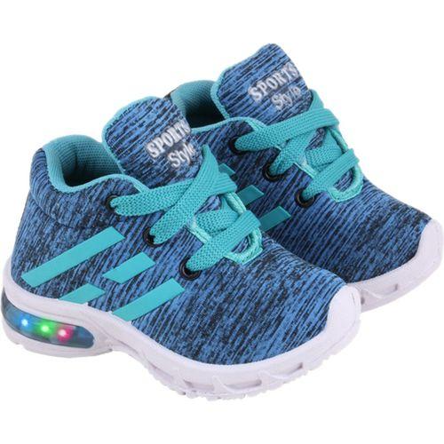 SMARTOTS Boys Lace Walking Shoes(Light Green)