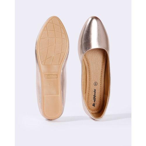 HI-ATTITUDE Metallic Pointed-Toe Ballerinas