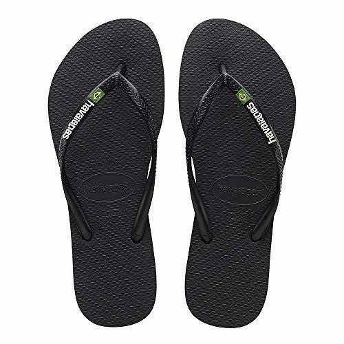 Havaianas Slim Brasil Black Flip-Flops(HV4140713_389)