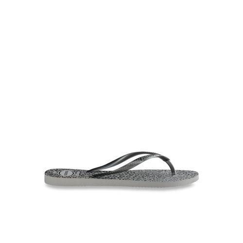 Havaianas Slim Ice Grey & Black Flip Flops