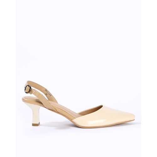AJIO Sling-Back Pointed-Toe Pumps