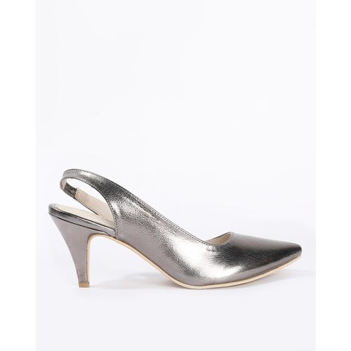 Bata Elektra Pointed-Toe Cone Heels with Perforations