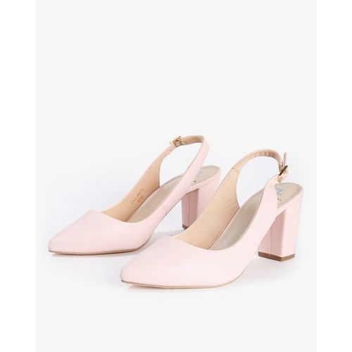 Carlton London Chunky Heeled Pumps with Slingback Strap