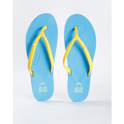 UNITED COLORS OF BENETTON Thong-Strap Flip-Flops with Brand Print
