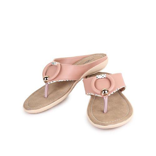 SHEZONE Thong-Strap Flat Sandals