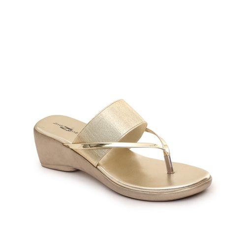 SHEZONE Regular-Fit Textured Wedge Heel