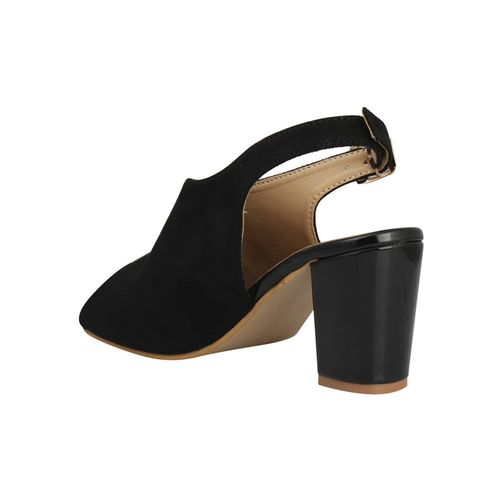 Pelle Albero black back strap sandals