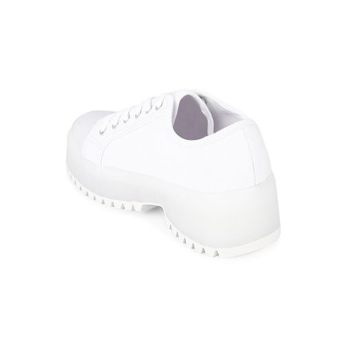 Truffle Collection white canvas laceup casual shoes