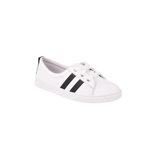 Mamzer white lace-up casual shoes