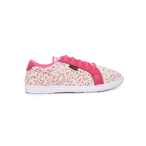 Liberty Shoes pink lace-up casual shoes