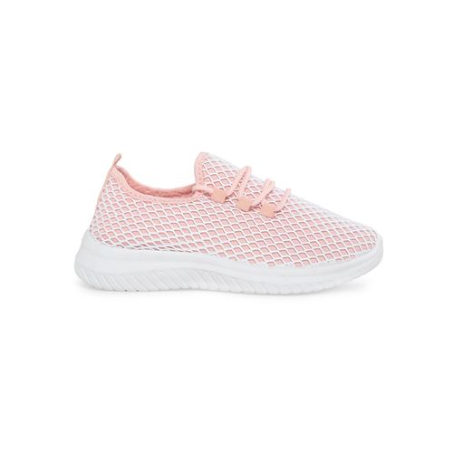 Truffle Collection pink lace-up casual shoes