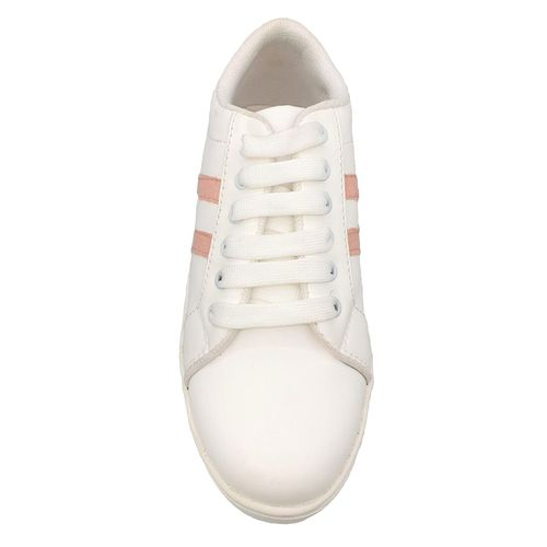 Pampys Angel white lace-up sneakers