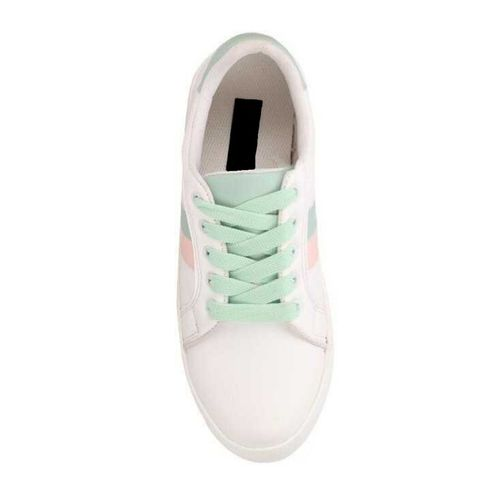 Banjoy SHOES sea green lace-up sneakers
