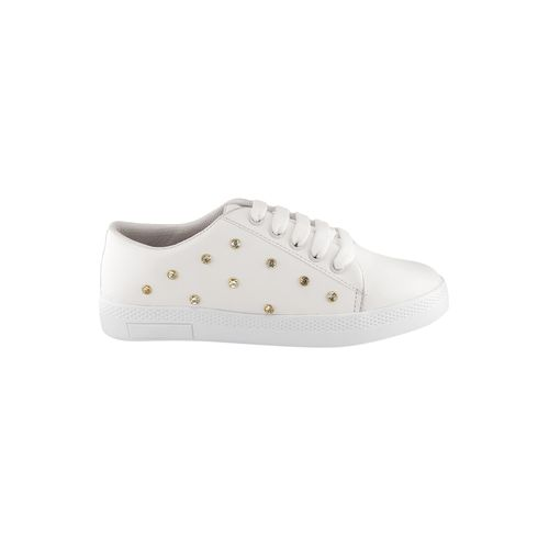 Crab Shoes white lace-up sneakers