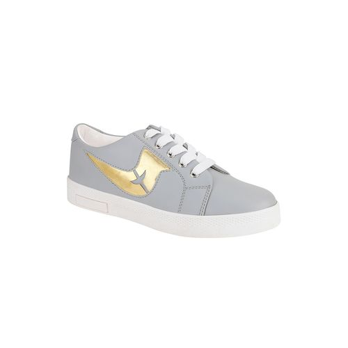 QUARKS grey lace-up sneakers