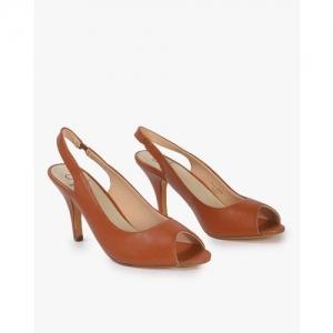 Carlton London Peep-Toe Slingback Cone Heels