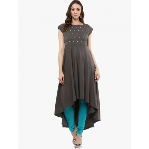 MBE high low embroidered kurta