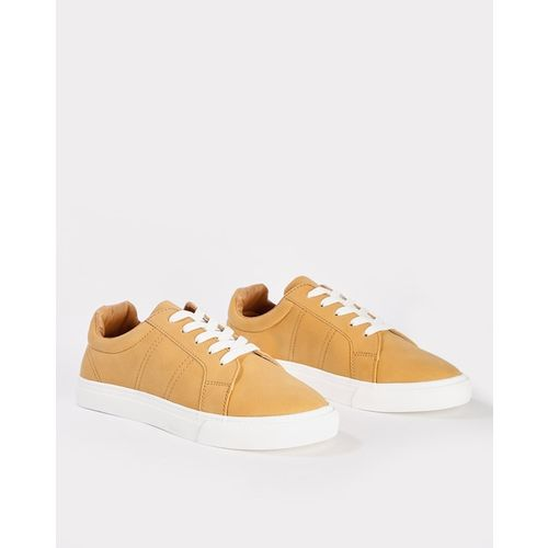 AJIO Panelled Lace-Up Casual Shoes