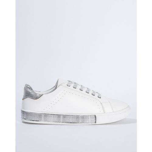 AJIO Low-Top Casual Shoes with Metallic Finish