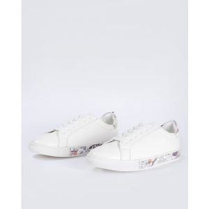 AJIO Low-Top Casual Shoes with Contrast Panels