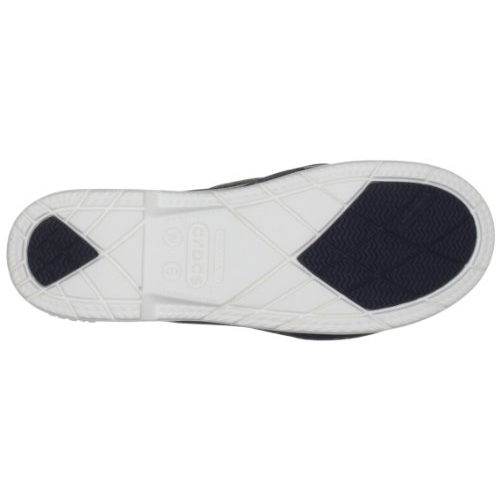 Crocs Navy and White Rubber Loafers