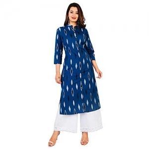 Kurti Hub Blue Rayon Salwar Suit