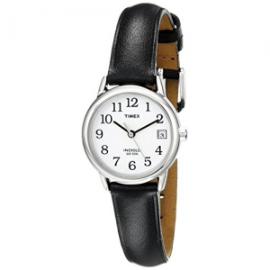 Timex Women's T2H331 Easy Reader Black Leather Strap Watch