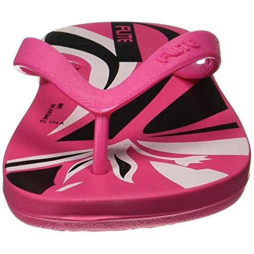 FLITE Pink Black Slippers