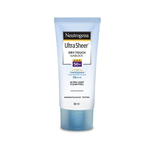 Neutrogena Ultra Sheer Dry Touch Sunblock SPF 50+ Sunscreen For Women And Men, 88ml