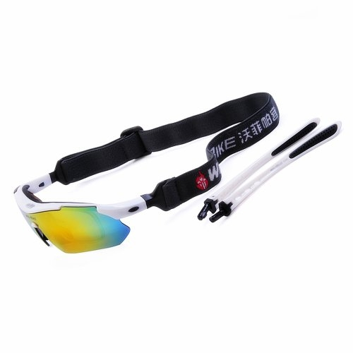 Wolfbike White Frame Polarize Sports Cycling Sunglasses