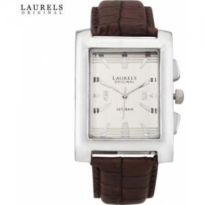 Laurels Lo-Imp-201 Imperial 2 Brown Analog Watch