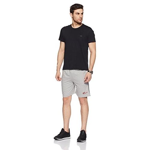 Chromozome Grey Cotton Solid Shorts