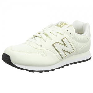 New Balance 500 White & Gold Sneakers (GW500OGO)