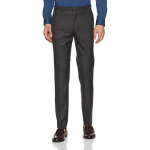 Raymond Gray Polyester Slim Fit Formal Trousers