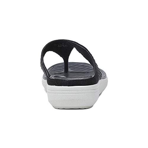 BATA Blossom Thong Black Slippers (5716988)