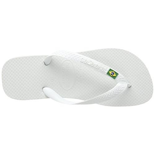 Havaianas Unisex Adult Brasil Prep White Flip-Flops (HV4000032-0001-378)