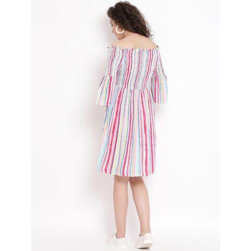 oxolloxo multi colored viscose aline dress
