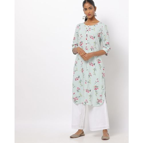AVAASA MIX N' MATCH Floral Print Straight Kurta