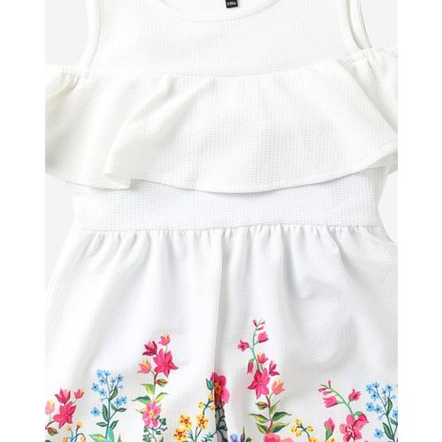 RIO GIRLS Floral Print Cold-Shoulder A-line Dress