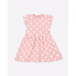 Mothercare Heart Print Fit & Flare Dress