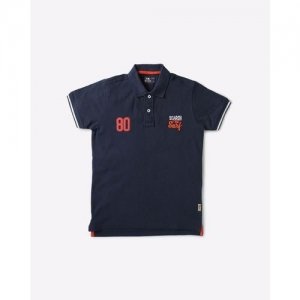 FLYING MACHINE KIDS Cotton Polo T-shirt with Vented Hem
