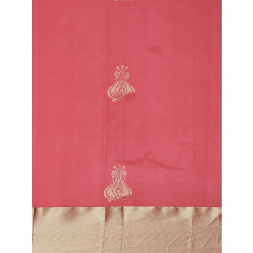 The Chennai Silks Pink Woven Saree With Blouse