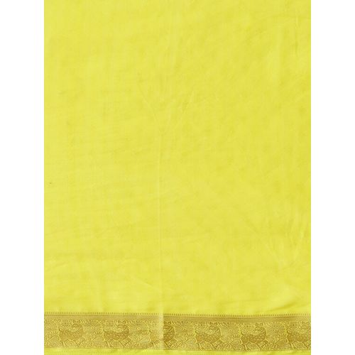 Harni lime solid saree with blouse
