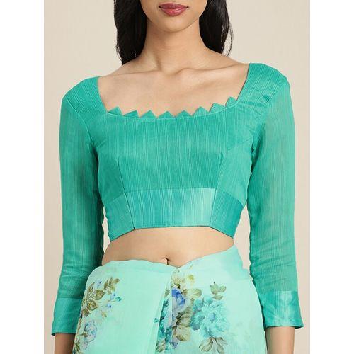 Aloki floral printed saree with blouse