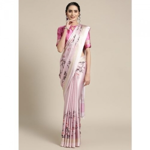 Aloki floral printed saree with blouse