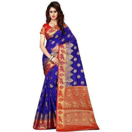 Shoppershopee Embroidered Paithani Art Silk, Poly Silk Saree(Multicolor)