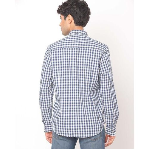 FLYING MACHINE Checked Slim Fit Shirt with Patch Pocket