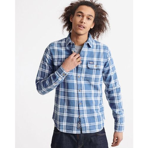 SUPERDRY Checked Tailored Fit Shirt with Buttoned Patch Pockets
